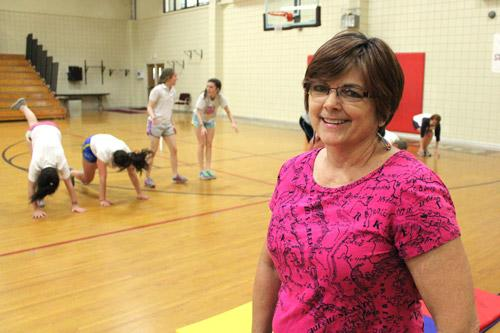 Christ the King School's physical education teacher Jan Pipkin started the program four years ago. Her standing invitation to other schools' athletes to join the training has thus far gone unaccepted. (Dwain Hebda photo)