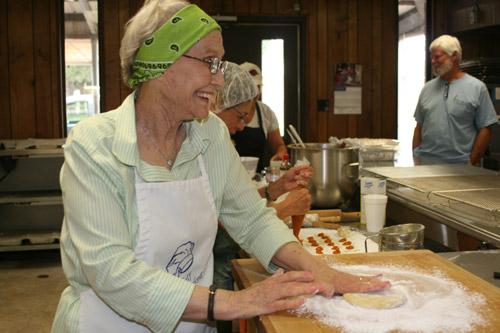 "Roberta Uhiren said of the Slovak Bakers, ""We have as much fun as we do work."" (Aprille Hanson photo)"