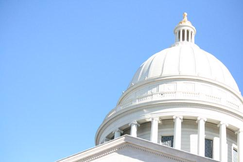 The Arkansas State Capitol dome shines in the sun before the March for Life on the capitol grounds, Jan. 18, 2015. Arkansas' death penalty was an important life issue in the news during 2015. (Malea Hargett photo. Prints not available.)