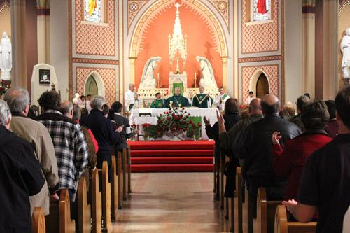 Faithful gathered from across the state to pack the Cathedral of St. Andrew in Little Rock for the annual Mass for Life, celebrated by Bishop Anthony B. Taylor. (Dwain Hebda photo)