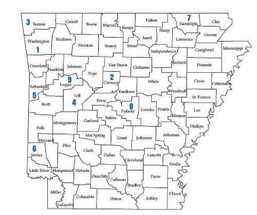 Elevation Of Washington County Ar Usa: Washington, Conway Counties Most Catholic Areas