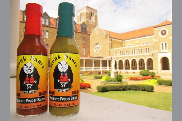 Monk Sauce is made with Habanero peppers for a spicy kick. (Courtesy Subiaco Abbey)