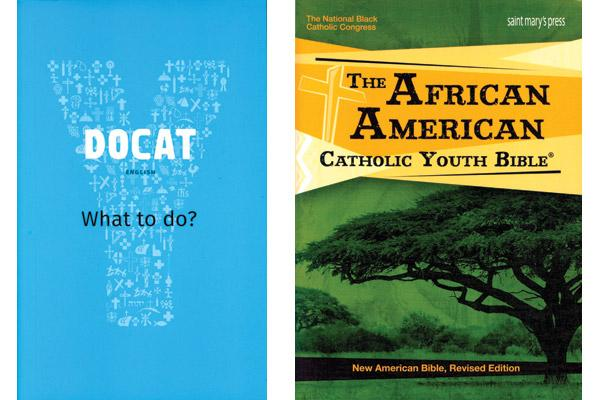 """Docat"" details social teachings of the Catholic Church for teenagers; St. Mary's Press is a leader in children and teen Bible resources, like ""The African American Catholic Youth Bible."""