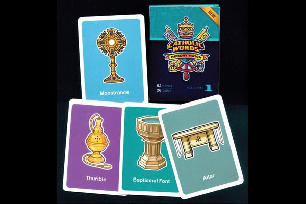 This classic childhood match game puts Church objects on the cards.