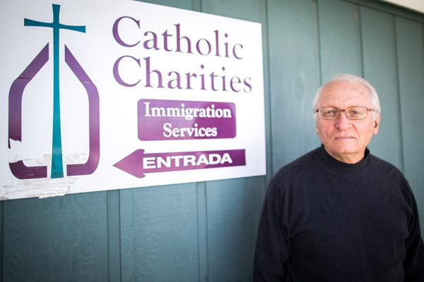 At Catholic Charities Immigration Services - Springdale, director Frank Head  (Arkansas Catholic file / Travis McAfee photo)