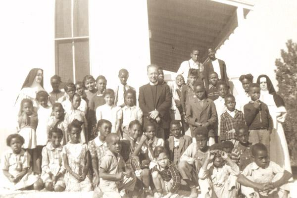 St. Gabriel School students in Hot Springs pose for a photo. Most of the black Catholic schools were closed in the 1960s and 1970s. (Diocese of Little Rock archives)