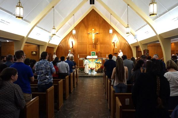 Parishioners and visitors packed Our Lady of Fatima Church in Benton for a bilingual Mass Oct. 13, celebrating 100 years since the apparitions of the Blessed Mother at Fatima. (Aprille Hanson)