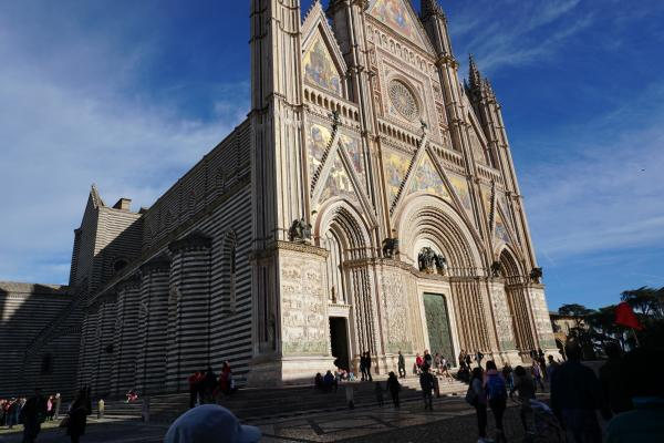 The cathedral in the Umbrian town of Orvieto, Italy, was the site of a Eucharistic miracle in 1263, the source of the feast of Corpus Christi. (Malea Hargett photo)