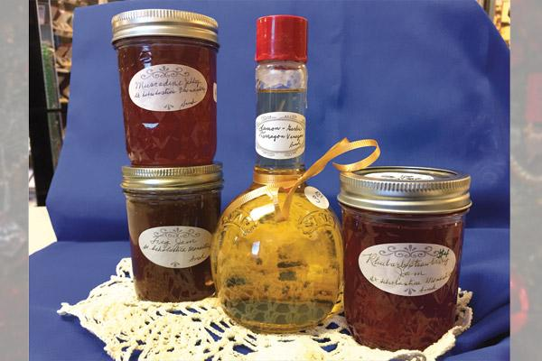 Prioress Sister Maria Goretti DeAngeli of St. Scholastica Monastery in Fort Smith makes a variety of flavors for her vinegar, jams and jellies.