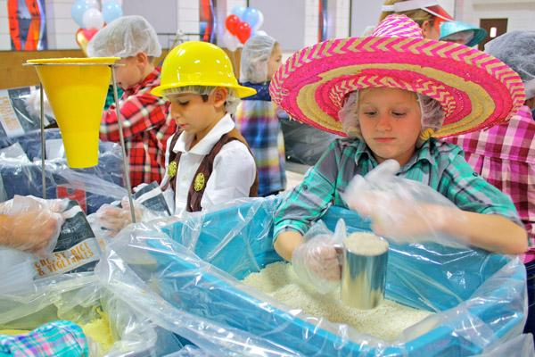 Third graders funnel 5000 meals for rogers food pantry for St vincent de paul food pantry rogers ar