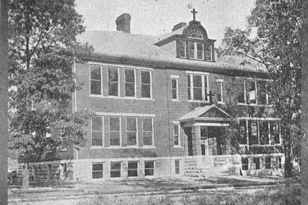 "St. Boniface School's ""new"" building is shown in the Aug. 10, 1912, issue of The Guardian. The school was founded in 1887 to serve German Catholics in the Fort Smith area."