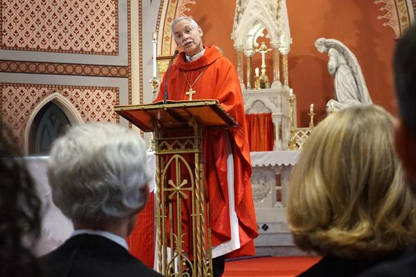 "Bishop Anthony B. Taylor discussed the importance of the ""human dimension of justice"" during his homily at the Red Mass Oct. 4. (Aprille Hanson photo)"